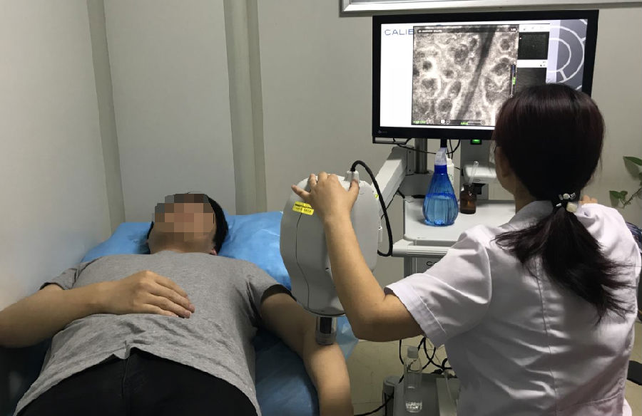 在体反射式共聚焦显微镜(三维皮肤CT)